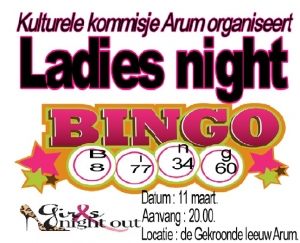 Lady's Night Bingo